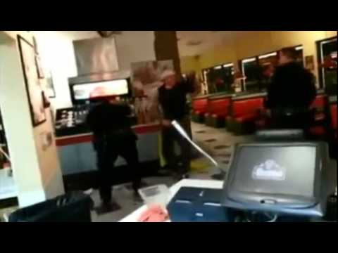 TASER Fails To Stop Man From Attacking Officers (Fatal)