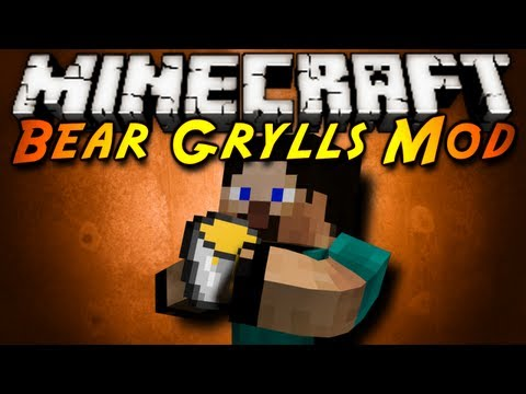 Minecraft Mod Showcase : BEAR GRYLLS!