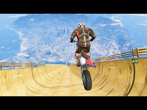 GTA 5 Motorcyle Jumps/Falls Compilation (GTA 5 Fails Funny Moments)