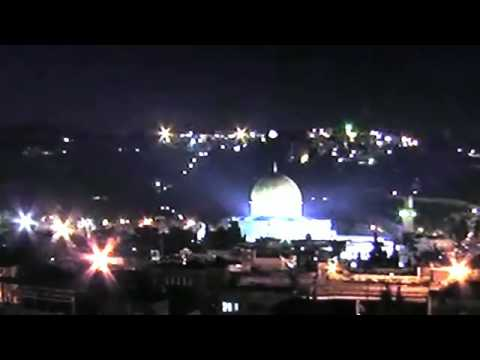 Kejadian Aneh Cahaya Misteri Atas Masjid Al Aqsa (UFO?Malaikat?) 2nd Video