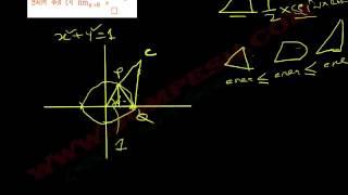 ক্যালকুলাস – লিমিট (Limit) পাঠ ৫ :  প্রমাণ কর যে  lim (x→0) (sinx/x)=1