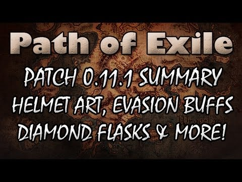 Path of Exile News: Patch 0.11.1 Brings New Helmets, Uniques, Diamond Flasks & Evasion Buffs!