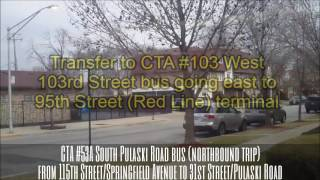 CTA #53A South Pulaski Road bus (northbound trip) from 115th/Springfield to 31st/Pulaski (02-22-17)