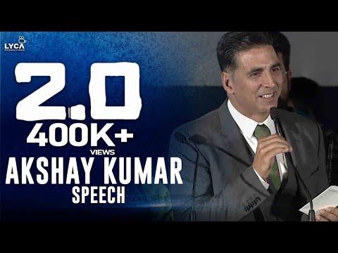Akshay Kumar Speech at 2.0 Trailer Launch   Rajinikanth   Shankar   Lyca Productions
