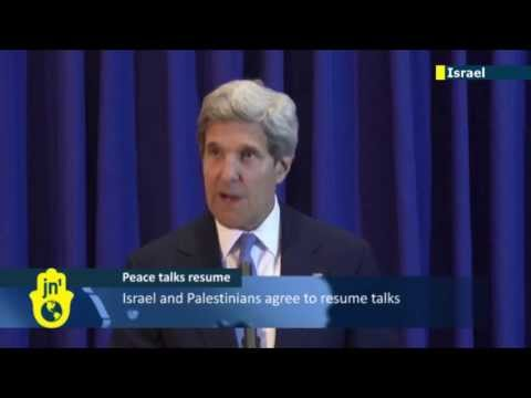 US Secretary of State John Kerry: Israeli and Palestinian sides both agree to resume peace talks