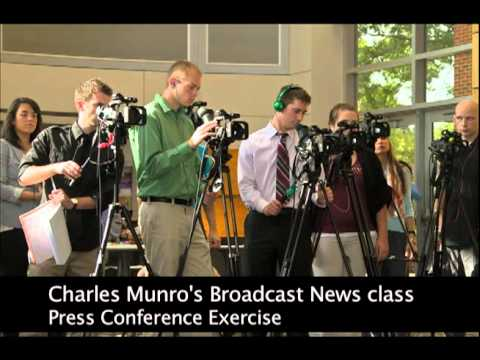 Screenshot of Charles Munro's Press Conference Exercise  Youtube video