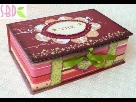 Scrap tutorial: Scatola Scrap Porta bustine da Tè - Tea bags holder Box