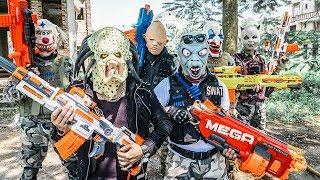 LTT Films : Silver Flash Nerf Guns Fight BIGMAN Mask Revenge Plan Failed