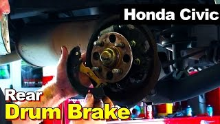 2001-2005 Honda Civic Rear Drum Brakes Replacement
