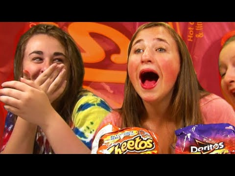 Girls Do Hot Cheetos Challenge - Scary Prank - Kids Toy Reviews