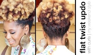 Easy Flat Twist Updo with Curls | Natural Hair | askpRoy