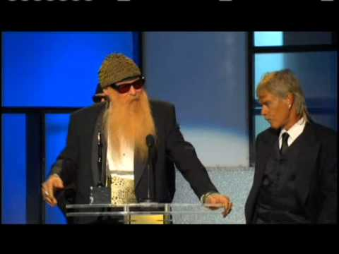 ZZ Top accepts award Rock and Roll Hall of Fame inductions 2004