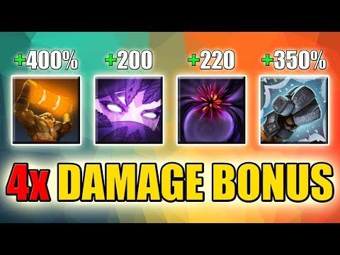 One Shot: Quadruple Damage Bonus Build [One Hit - One Kill] Dota 2 Ability Draft