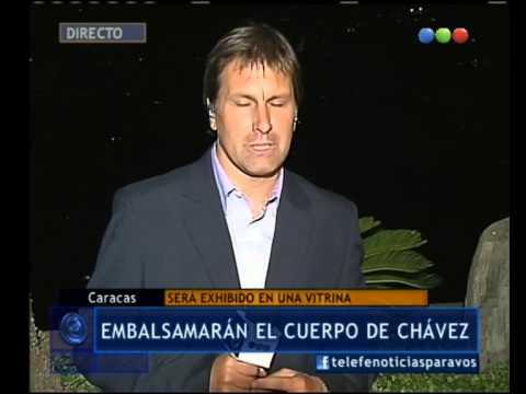 Decidieron embalsamar  el cuerpo de Chávez - Telefe Noticias