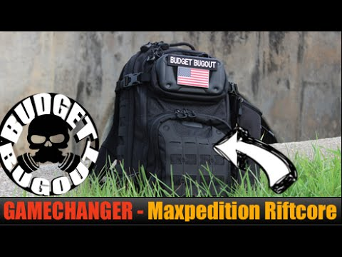 GAMECHANGER Everyday Carry [EDC] Backpack -- Maxpedition Riftcore EDC Bag   Tactical. Yet Practical!