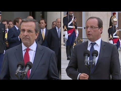 Antonis Samaras encontrou-se com François Hollande