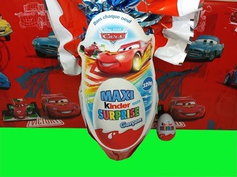 Mega Giant Kinder Surprise Maxi Eggs Cars Easter Edition