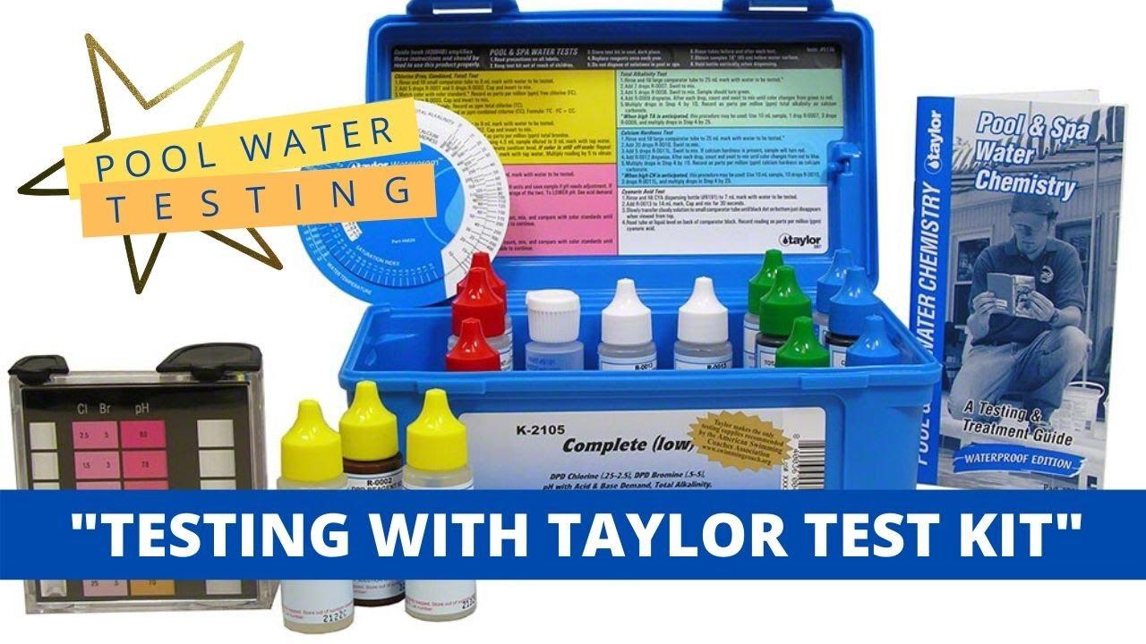 Pool Water Chemical Testing Youtube
