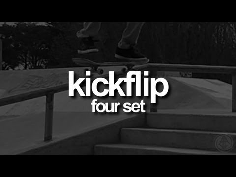 Kickflip - Four Set: First-Person Skateboarding.