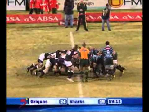 Griquas vs Sharks Currie Cup Rugby Video Match Highlights 2011