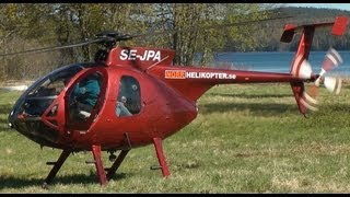 MD Helicopters MD500E OK-EAI Arrival at LHBS