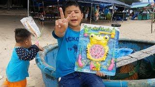 Trò Chơi Câu Cá Con Ếch Trên Cát Biển ❤ ChiChi ToysReview TV ❤ Đồ Chơi Trẻ Em Baby Fun Toys Fish