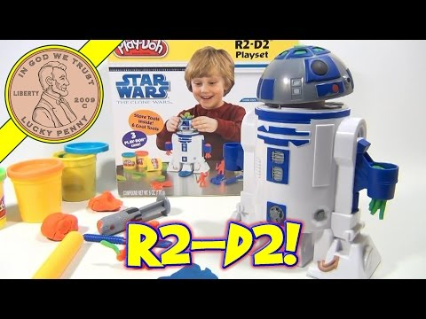 Play-Doh Star Wars The Clone Wars R2-D2 Playset No. 24085. 2009 Hasbro Toys