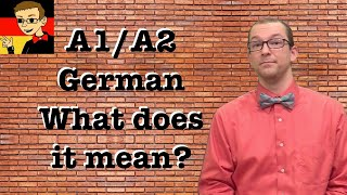 What is A1/A2? - Learn German for Beginners A1/A2 #0 - Deutsch lernen