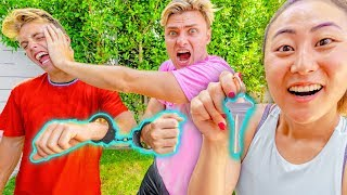 I HANDCUFFED MY BOYFRIEND TO MY EX-BOYFRIEND!! (GONE WRONG)