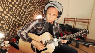 Acoustic guitar solo practice - Taylor 114e ES2 L.R. Baggs Session DI Neumann TLM102 ZOOM Q2N 4K