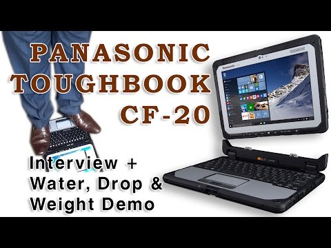 Panasonic Toughbook 20 : Fully Rugged detachable Laptop launch - Water, Drop & Weight Tested