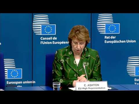 Remarks by Catherine Ashton following the Foreign Affairs Council