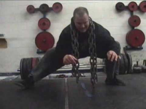 0 Cossack Squats with 60lbs of Chain   Improve Leg Strength / Hip Mobility / Knee Stability