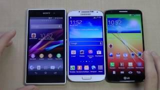 Samsung Galaxy S4 vs LG G2 vs Sony Xperia Z1. Большое сравнение