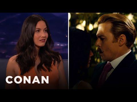 Olivia Munn: Johnny Depp Kept Grabbing My Boob  - CONAN on TBS