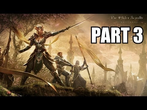 The Elder Scrolls Online Gameplay Part 3 Glitchy Quests - PC Review Playthrough