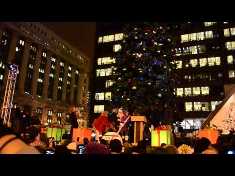 100th Annual Christmas Tree Lighting Ceremony at Daley Plaza