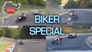 Bike Compilation Mix - Nürburgring Nordschleife - Seat Leon Cupra + Megane RS + Motorbike R1 R6 RR