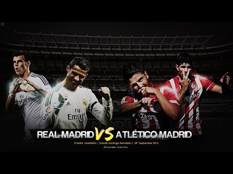 Atletico Madrid vs Real Madrid 2-2 2014 All Goals & Match Highlights 02/3/2014