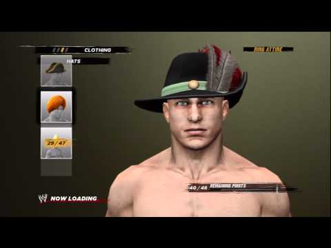 WWE 12 - Create-A-Wrestler - ALL OPTIONS!