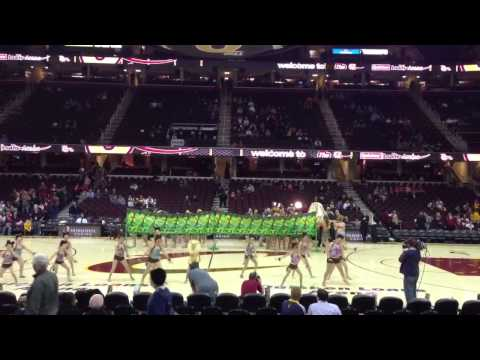 Becky's dancers @ Cavs game