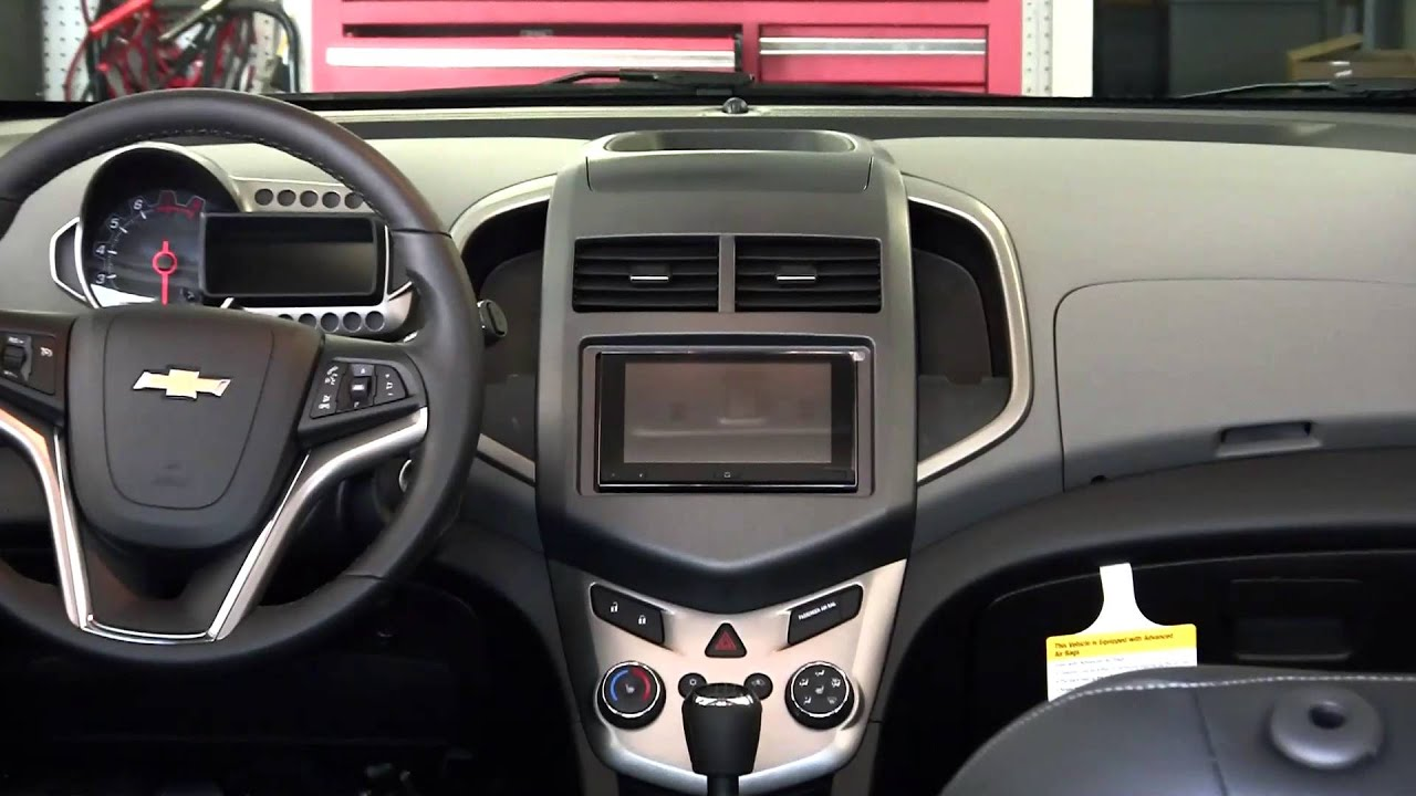 Chevy Sonic Custom >> Metra CHEVY SONIC 2012 & UP 99-3012G-LC dash kit - YouTube