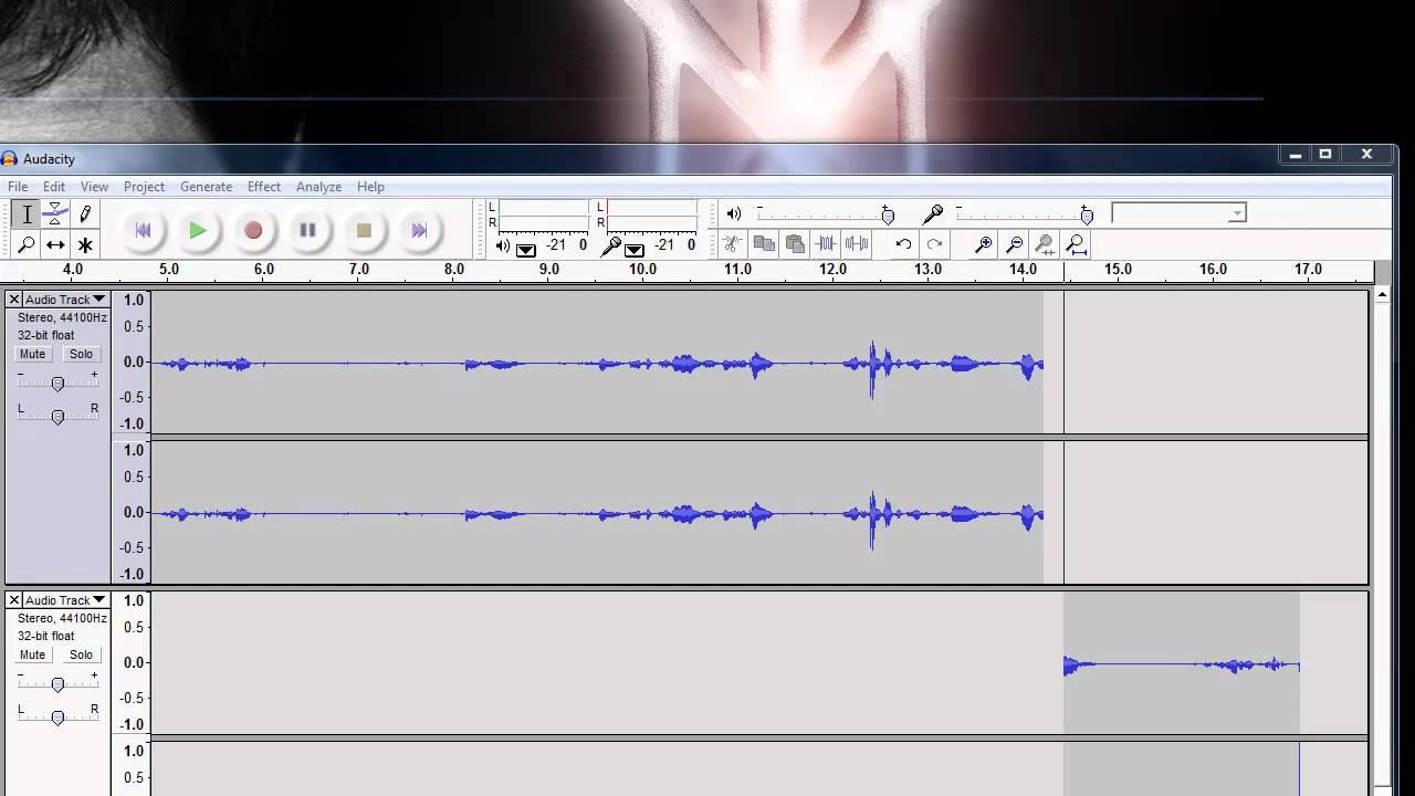 how to make a announcer voice audacity