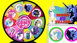 MY LITTLE PONY Heroes VS Villains Spinning Wheel Game Punch Box Toy Surprises