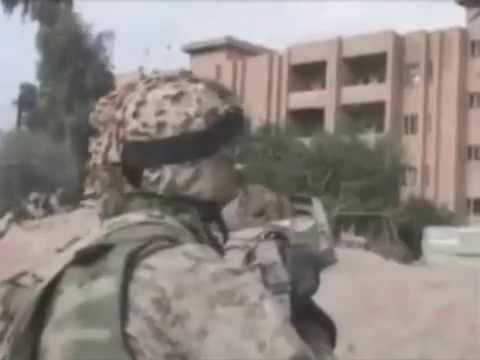 1st Marine Division, Fallujah Iraq, Part I *Actual War Footage*
