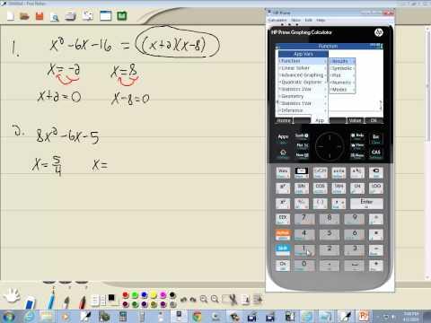 Technology in College Algebra - Factoring Trinomials - HP Prime