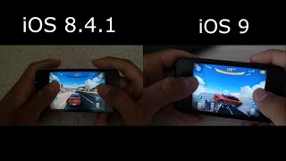 iOS 9 VS iOS 8.4.1 - Asphalt 8