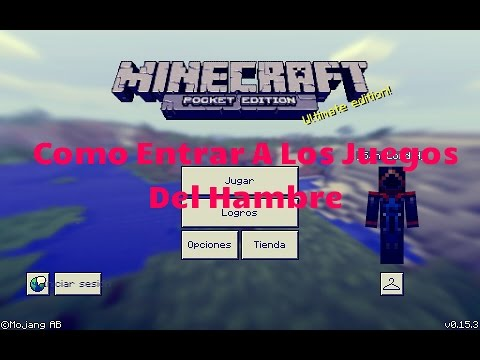 Como Entrar En Los Juegos Del Hambre   Minecraft PE   0.15.6   0.15.0   0.15.4   0.15.3   0.15.5