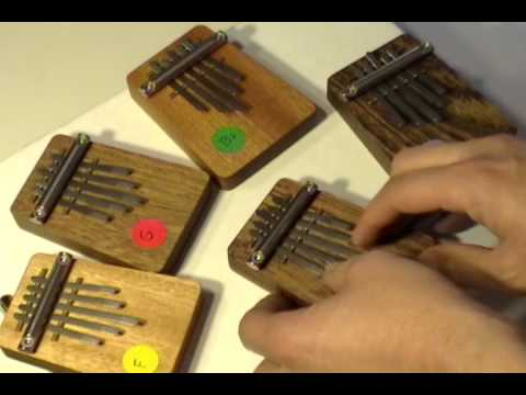 Homemade thumb pianos
