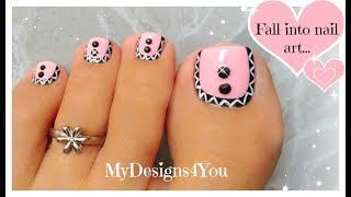 Pink Aztec Toenail Art Design | Pedicure Tutorial ♥